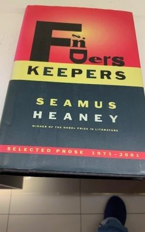 Finders Keepers – Selected Prose 1971-2001