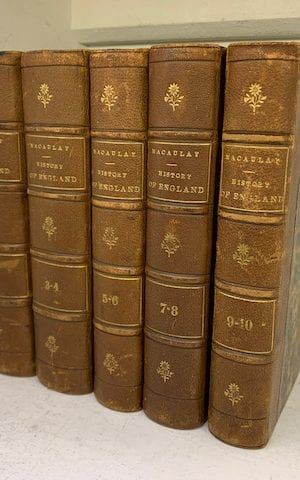 A History of England from the Accession of James the Second (10 books 5 volumes)
