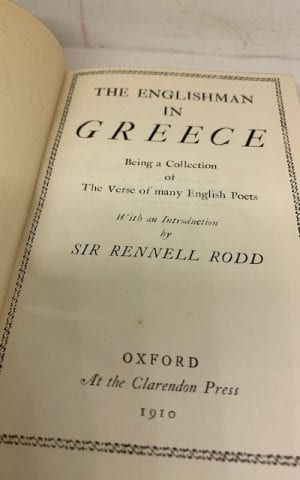 The Englishman in Greece (an anthology)