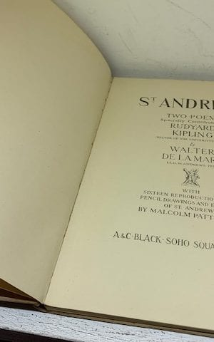 St Andrews, Two Poems Specially Contributed By R.Kipling And W. De La Mare