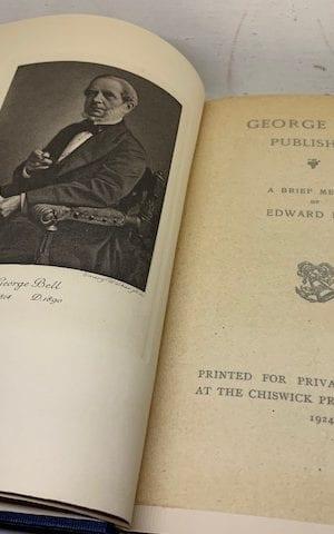 George Bell, Publisher: a brief memoir