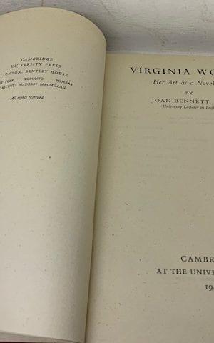 Virginia Woolf: Her art as a novelist