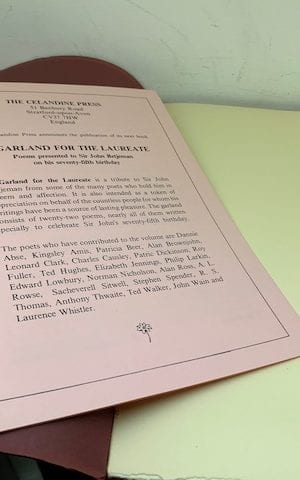 A Garland for the Laureate – Poems presented to Sir John Betjeman on his 75th birthday