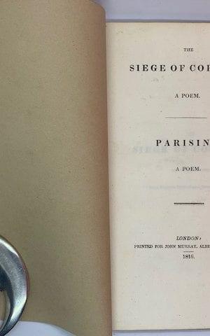 The Siege of Corinth; Parisina