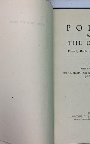 Poems from the Desert – verses by members of the Eighth Army