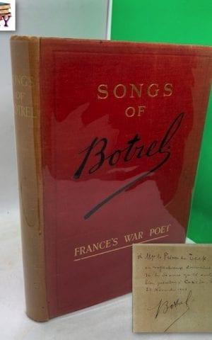 Songs of Botrel, France's War Poet (SIGNED)