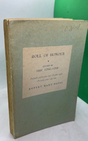 Roll of Honour (Uncorrected Proof)