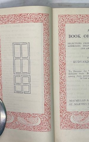 A Book of Words, speeches from 1906-1927